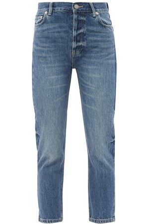 Raey Crop Organic-cotton Straight Leg Jeans - Womens - Dark