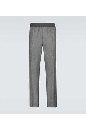 Moncler Elasticated wool flannel pants