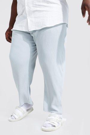 Boohoo Mens Light Plus Slim Fit Pleated Crop Trousers