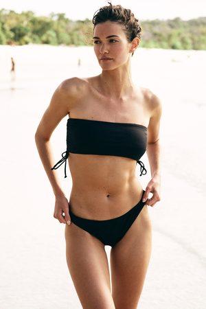 Body Side Gathered Midi Bandeau Bikini Top