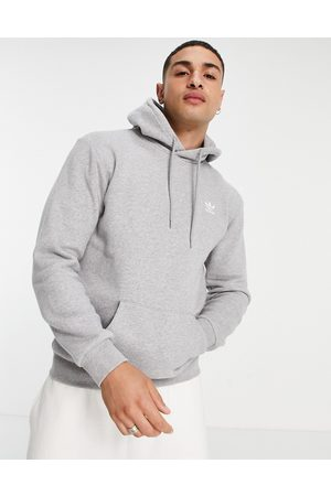 adidas Essentials hoodie with small logo in heather