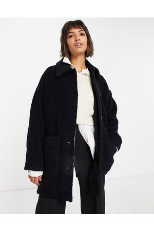 Whistles Mid length teddy borg jacket in