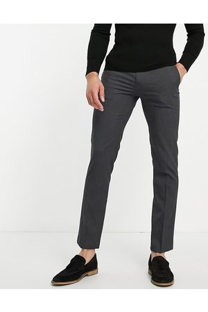 River Island Slim smart pants in dark grey