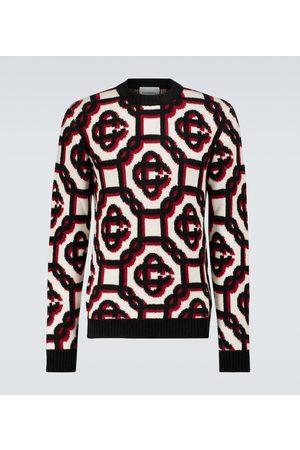 Casablanca 3D monogrammed wool-blend sweater