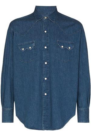 Orslow Men Denim - Denim Western shirt