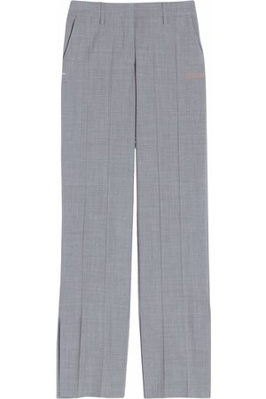 Off-White Pressed-crease straight-leg trousers