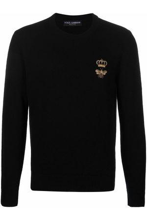 Dolce & Gabbana Men Sweaters - Embroidered virgin wool jumper
