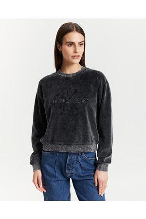 Calvin Klein Washed Velvet Sweatshirt - Sweats Washed Velvet Sweatshirt