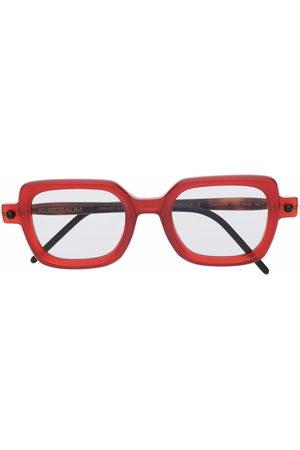 KUBORAUM Two-tone square-frame glasses