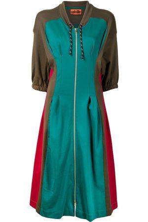 colville Kicker panelled hooded dress