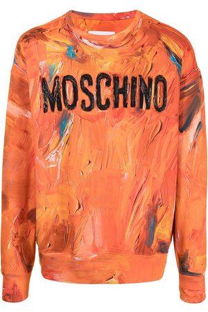 Moschino Men Sweatshirts - Crew neck logo-print sweatshirt