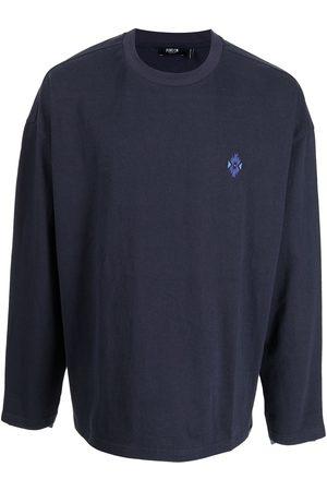 FIVE CM Men Sweatshirts - Logo-embroidered denim panelled sweatshirt