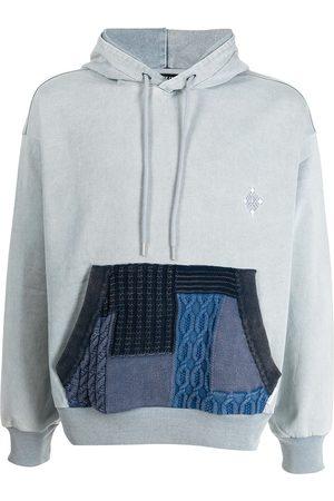 FIVE CM Patchwork pocket detail hoodie