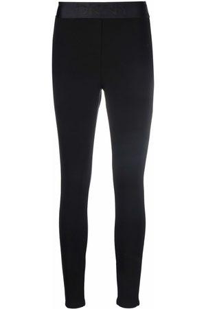 DKNY Women Leggings - Logo-waistband leggings