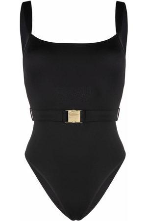 Noire Swimwear Belt buckle swimsuit