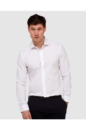Brooksfield Geo Print Reg Fit Business Shirt - Shirts & Polos Geo Print Reg Fit Business Shirt