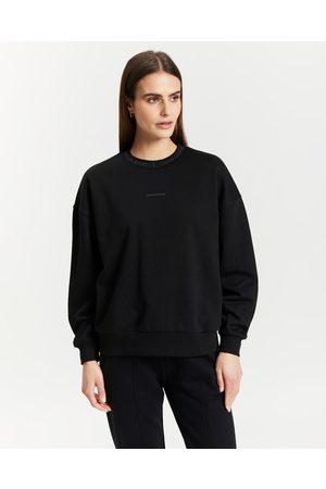 Calvin Klein Organic Cotton Logo Collar Sweatshirt - Sweats Organic Cotton Logo Collar Sweatshirt