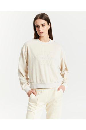 Calvin Klein Washed Velvet Sweatshirt - Sweats (Neutral) Washed Velvet Sweatshirt