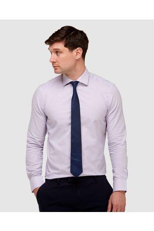 Brooksfield Micro Textured Reg Fit Business Shirt - Shirts & Polos (Lilac) Micro Textured Reg Fit Business Shirt