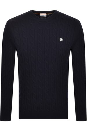 Timberland Men Sweaters - Lambswool Cable Knit Jumper