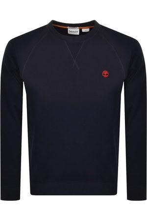 Timberland Men Sweatshirts - Crew Neck Logo Sweatshirt