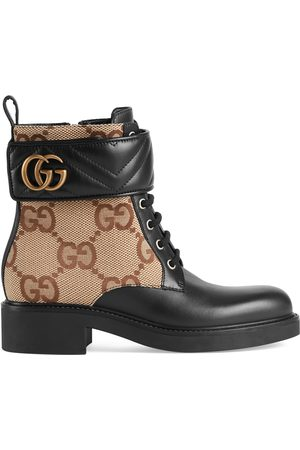 Gucci Women Ankle Boots - Women's ankle boot with Double G