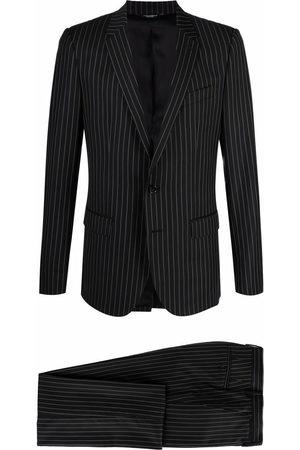Dolce & Gabbana Men Blazers - Single-breasted pinstripe blazer