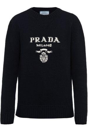 Prada Intarsia-knit logo jumper