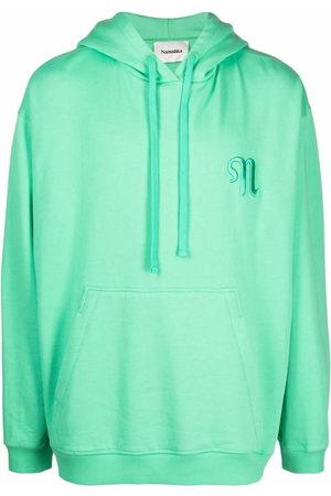 Nanushka Logo drawstring organic cotton hoodie