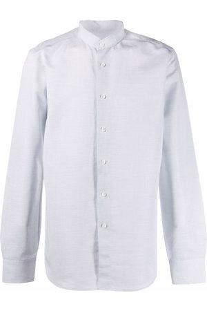 DELL'OGLIO Long-sleeve collarless shirt