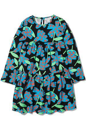 Stella McCartney Kids Girls Printed Dresses - Spotty Flowers-print twill dress