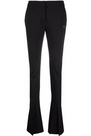 Off-White Women Formal Pants - Ankle-slit tailored trousers