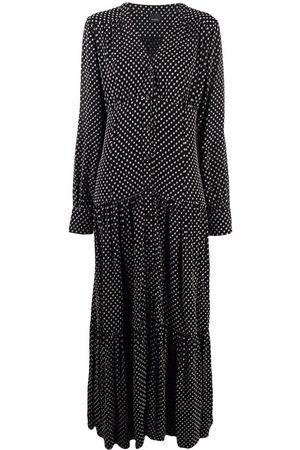 Pinko Women Maxi Dresses - Polka dot-print maxi dress