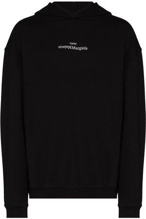 Maison Margiela Men Hoodies - Upside Down logo-print hoodie