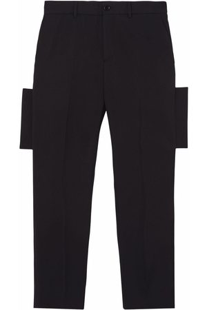 Burberry Men Formal Pants - Panelled-detail tailored trousers