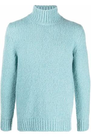 Brioni Men Sweaters - Mock-neck knitted cashmere jumper