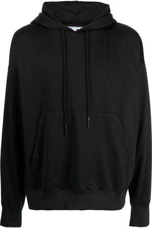 Off-White Men Hoodies - Logo-embroidered drop-shoulder hoodie