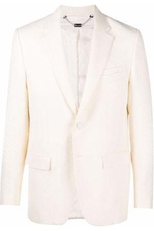 Billionaire Jaquard crocodile-effect tailored blazer