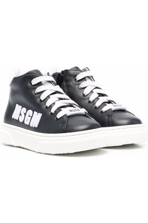 MSGM Kids Side embroidered-logo sneakers