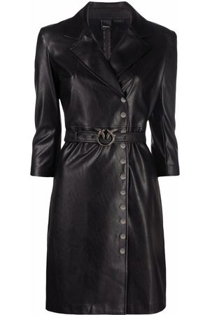 Pinko Faux-leather shirt dress