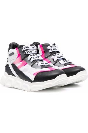 MSGM Kids Colour-block mid-top sneakers