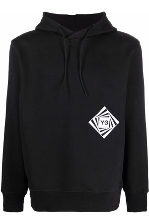 Y-3 Graphic logo-print relaxed hoodie