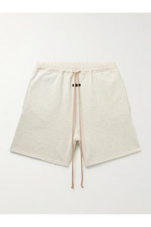 FEAR OF GOD Men Sweatshirts - Wide-Leg Shell-Trimmed Cotton-Jersey Drawstring Shorts