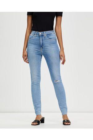 Calvin Klein High Rise Super Skinny Ankle Jeans - High-Waisted High Rise Super Skinny Ankle Jeans