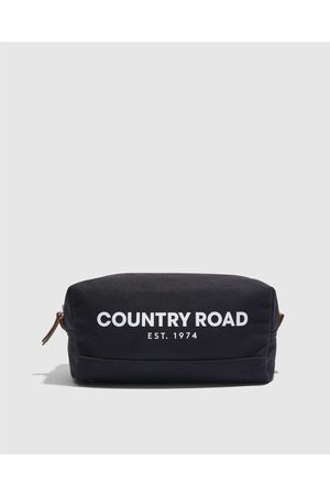 COUNTRY ROAD Organically Grown Cotton Modern Logo Wash Bag - Toiletry Bags Organically Grown Cotton Modern Logo Wash Bag