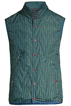 Kiton Small Geometric-Print Quilted Vest