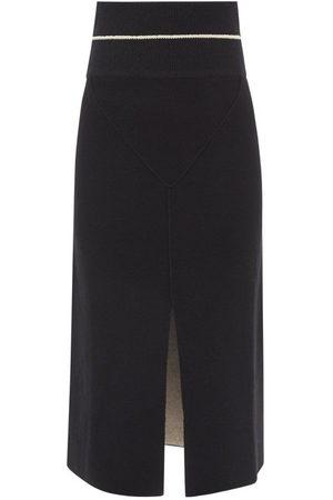 Moncler 1952 - Front Slit Knit Midi Skirt - Womens