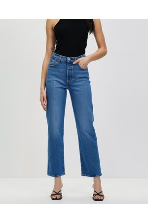 Levi's Women Straight - Ribcage Straight Ankle Jeans - Crop (Jive Together) Ribcage Straight Ankle Jeans