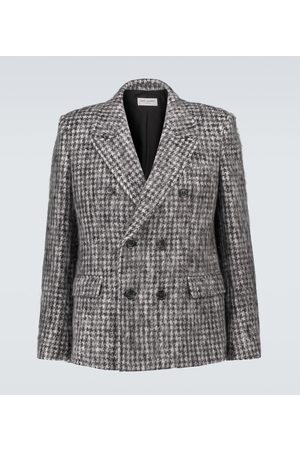Saint Laurent Checked double-breasted blazer