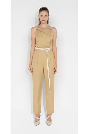 Cue Women Formal Pants - Waist Tie Tapered Pant